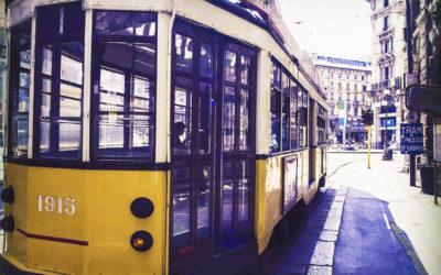 La vasta rete tranviaria di Milano con i suoi servizi speciali, tra cui Music Tram